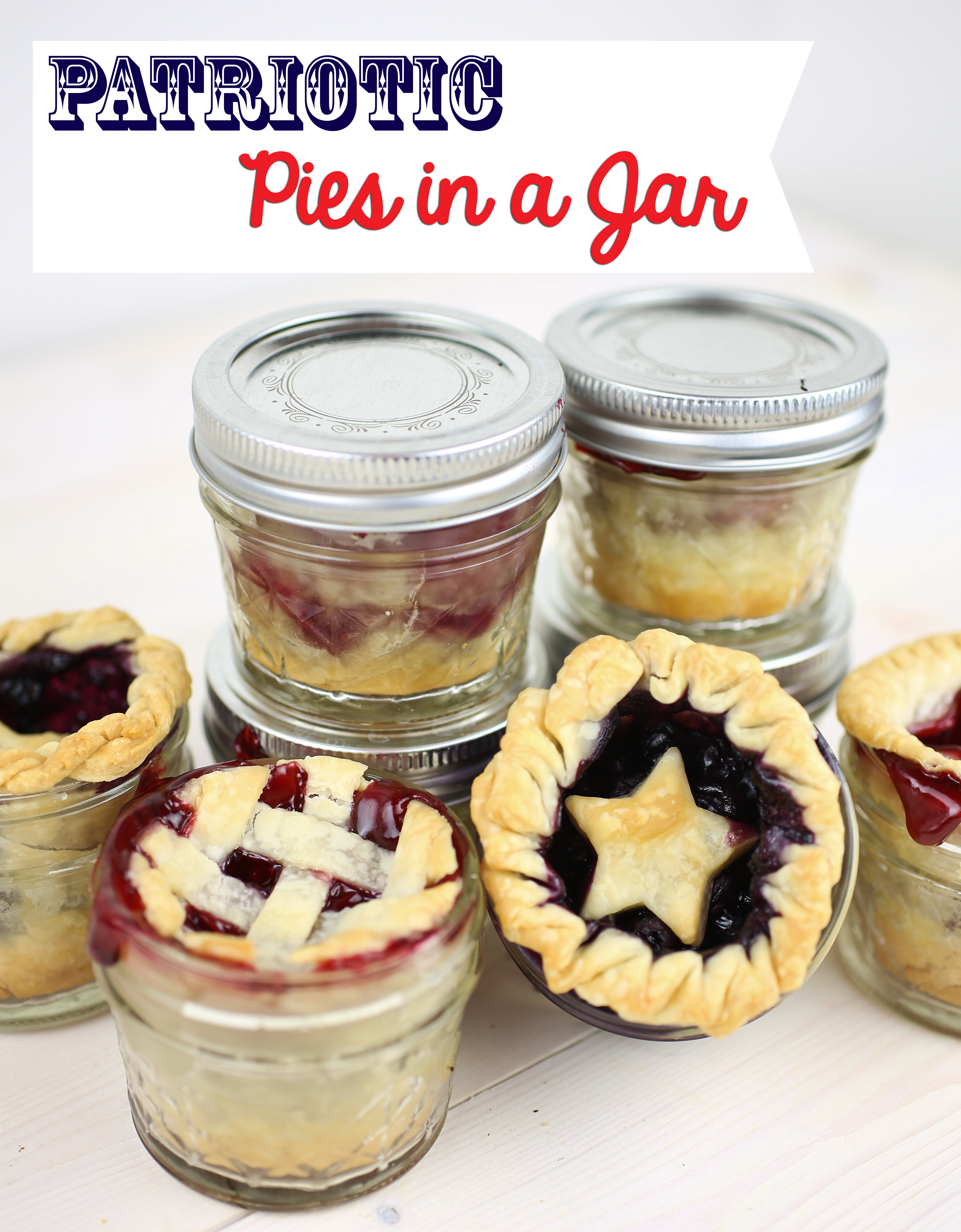 Patriotic Pies in a Jar