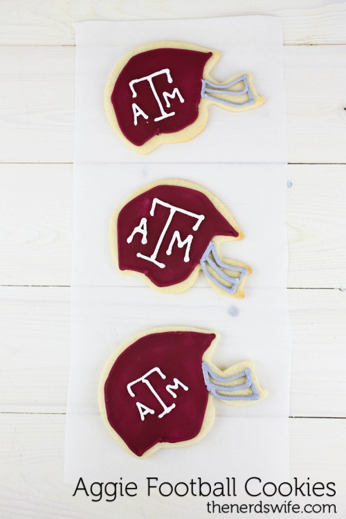 Texas Aggie Football Cookies