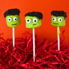 Frankenstein Marshmallow Pops Square