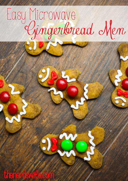 Easy Microwave Gingerbread Men