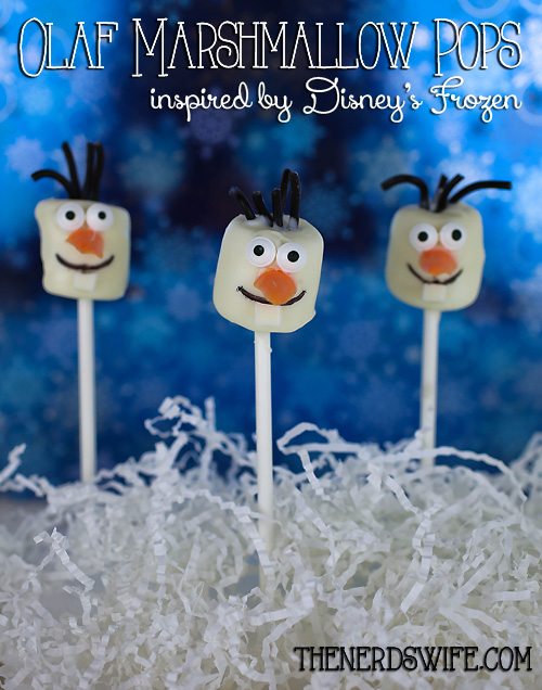 Olaf Marshmallow Pops
