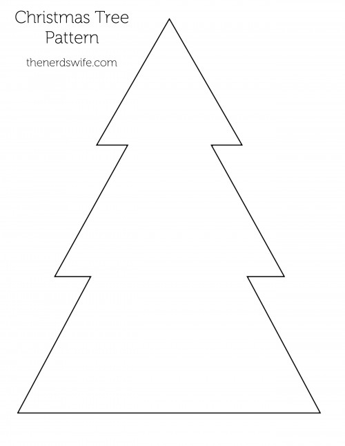 Christmas Tree Outline.Felt Christmas Tree Preschool Craft The Nerd S Wife