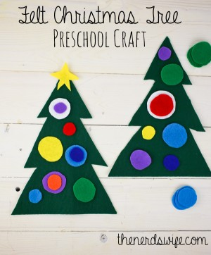 Felt Christmas Tree Preschool Craft