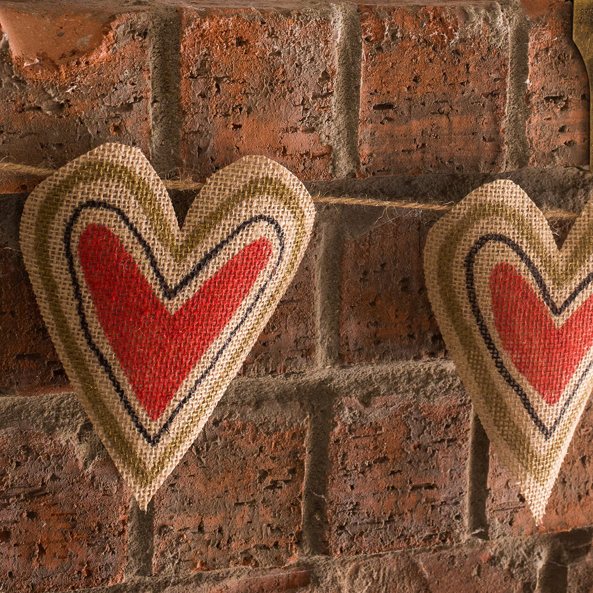 Diy Burlap Heart Garland