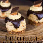 Butterfinger Peanut Butter Cup Cheesecake