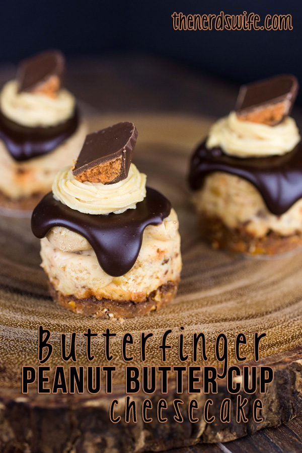 Mini Butterfinger Peanut Butter Cup Cheesecakes #ThatNewCrush #Shop