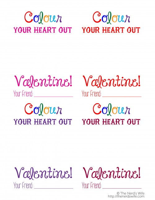 Colour Your Heart Out Valentine