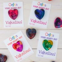Handmade Valentines: Heart Shaped Crayons