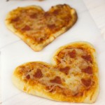 Mini Heart Pizzas