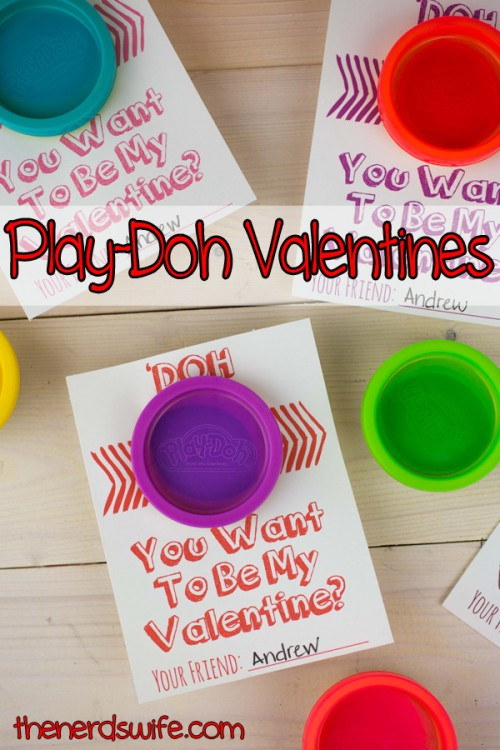 valentine play doh cards (with free printable), Ideas