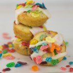 Mini Fruity Pebbles Doughnuts