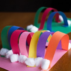 Rainbow Preschool Craft