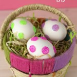 Glitter Dot Easter Eggs Small