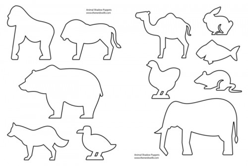 Animal Shadow Puppet Template