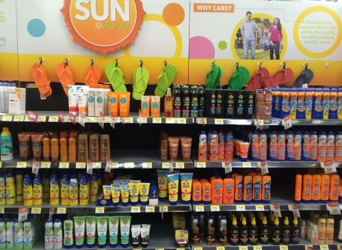 Banana Boat Display at Walmart #BBBestSummer #Shop