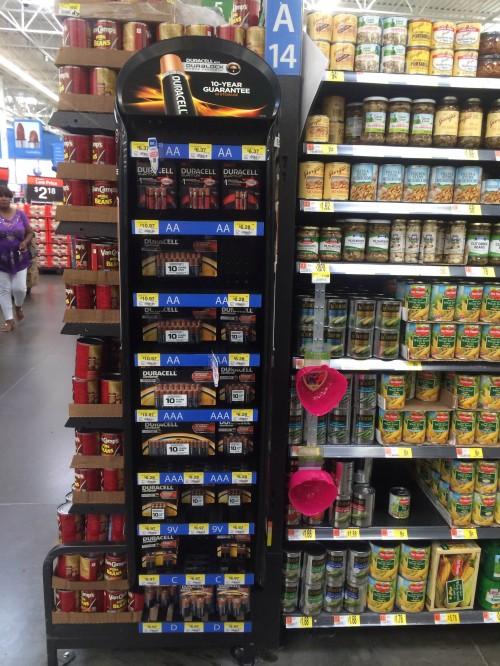 Duracell at Walmart