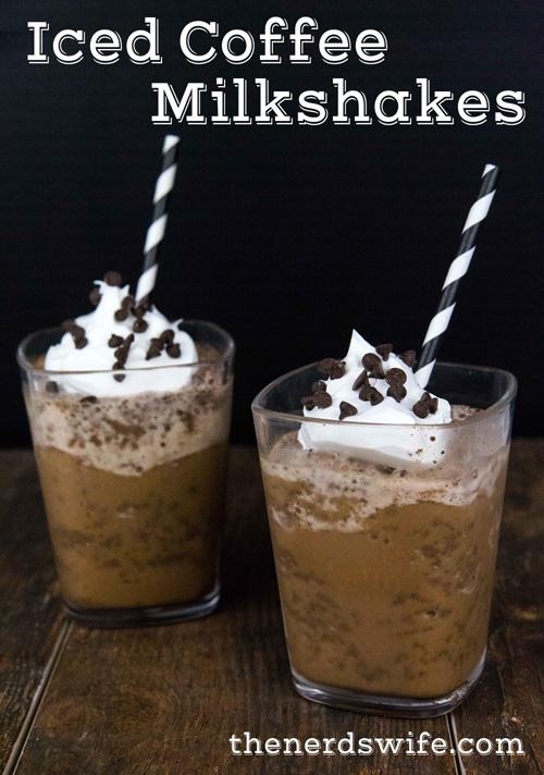 Iced Coffee Milkshakes #IcedDelight