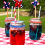 Patriotic Kool-Aid with Fruit-Infused Ice Cubes