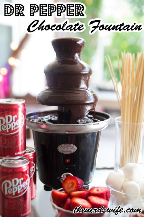 Dr Pepper Chocolate Fountain