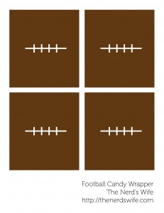 Football Candy Bar Wraps
