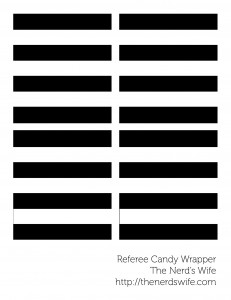 Referee Candy Bar Wraps