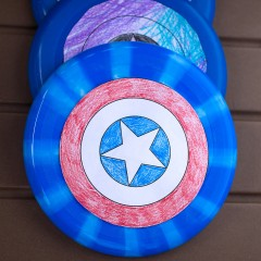 DIY Captain America Shield Square