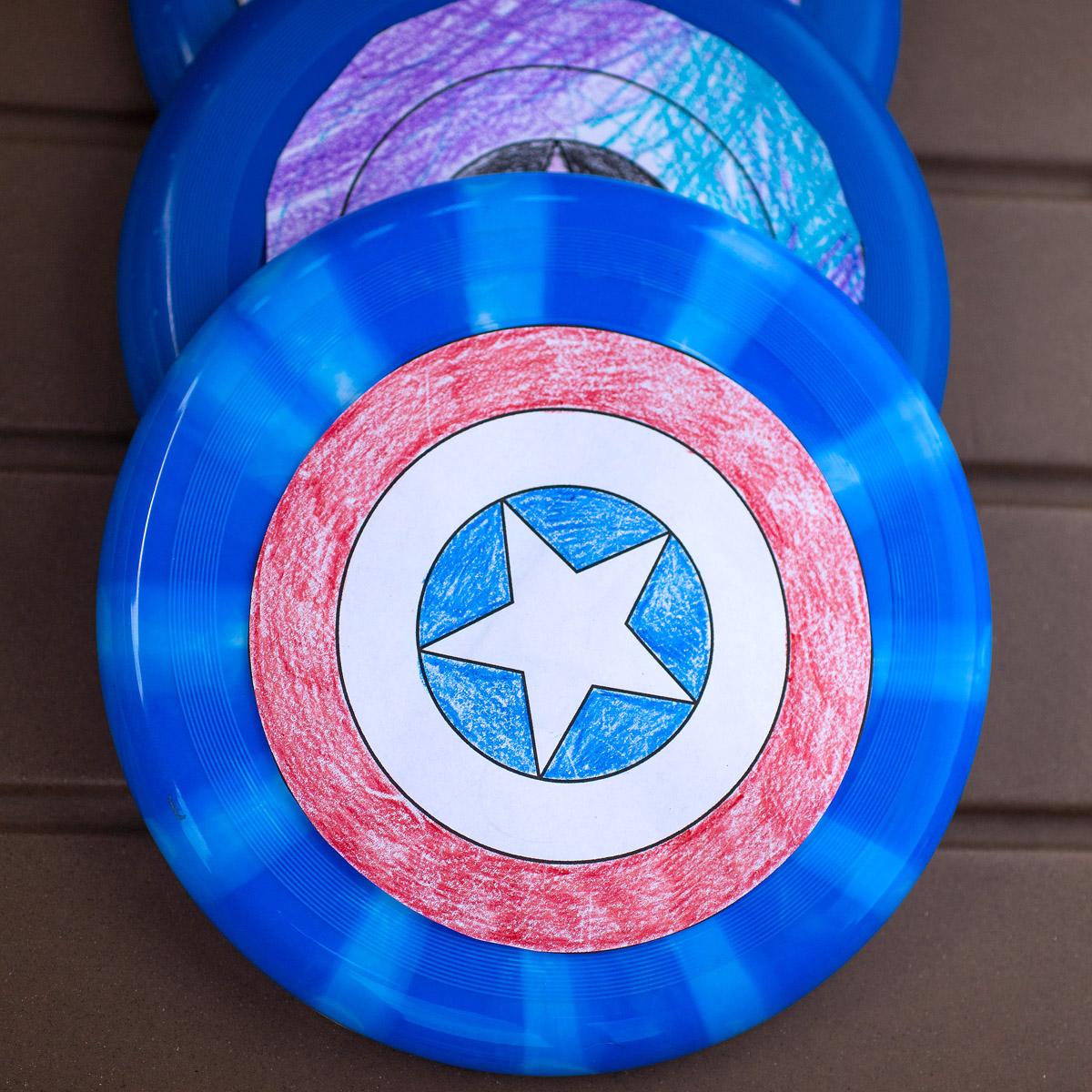 Diy Captain America Shield Free Printable The Nerd S Wife