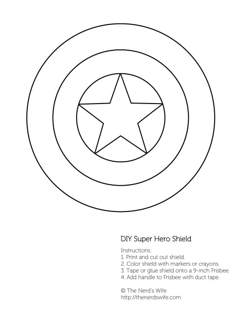 captain america shield coloring page diy captain america shield free printable the nerd 39 s wife