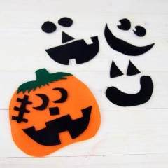 Felt Pumpkin Preschool Craft Square