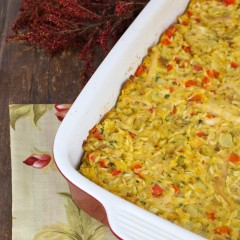 Chicken and Stuffing Casserole Square