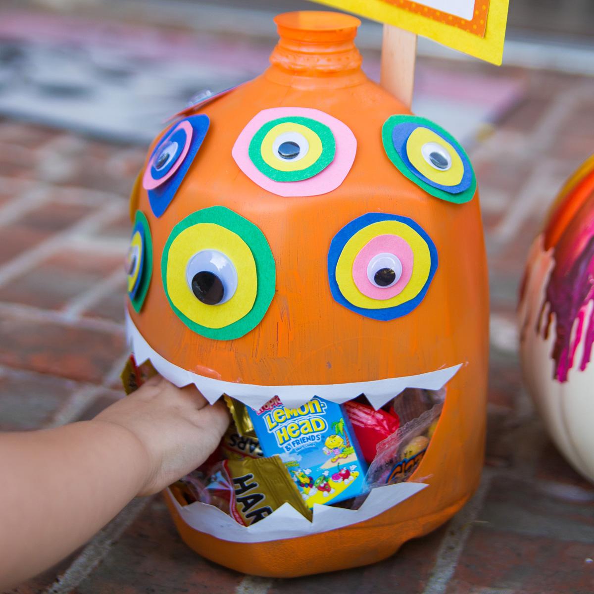 Homemade Halloween Candy Dispenser
