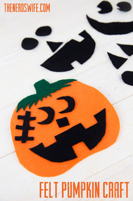 Felt Pumpkin Preschool Craft Small