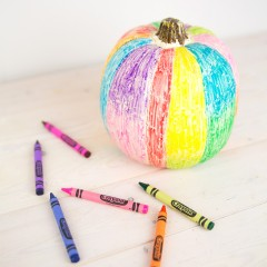 Rainbow Scribble No Carve Pumpkin Square