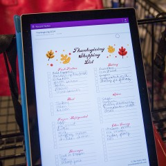 Thanksgiving Shopping List Printable Square