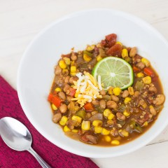 Black Eyed Pea Chili Square
