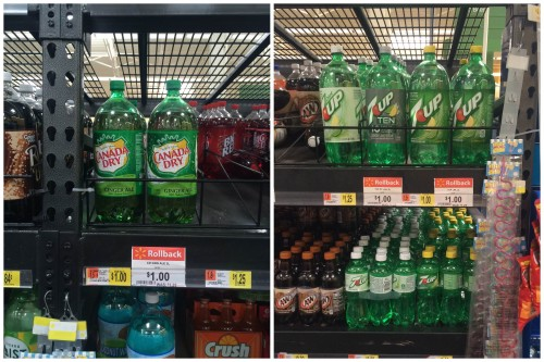 Canada Dry and 7UP at Walmart