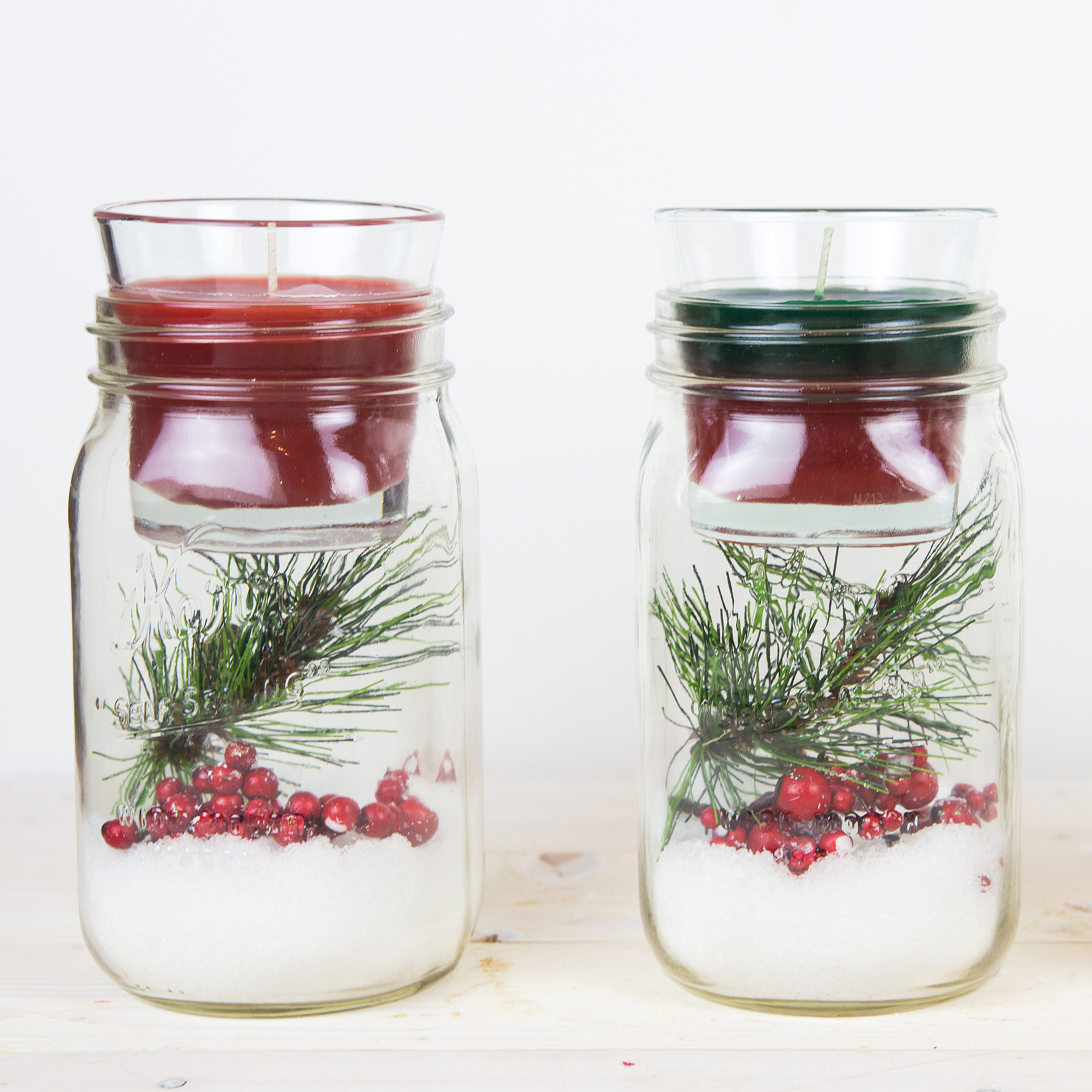 Diy Christmas Mason Jar Candle Holder