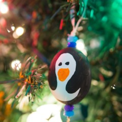 Penguin Blown Egg Ornaments Square