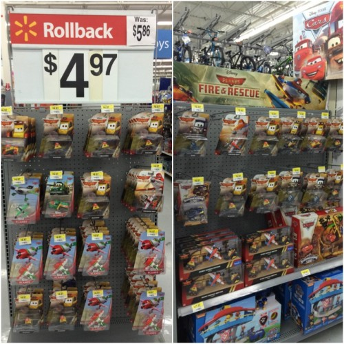 Planes on Rollback at Walmart