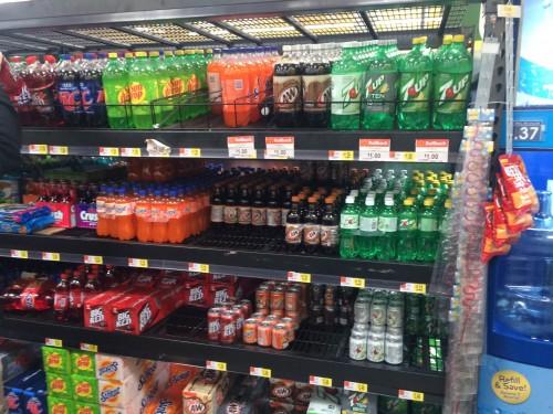 Soda Aisle at Walmart