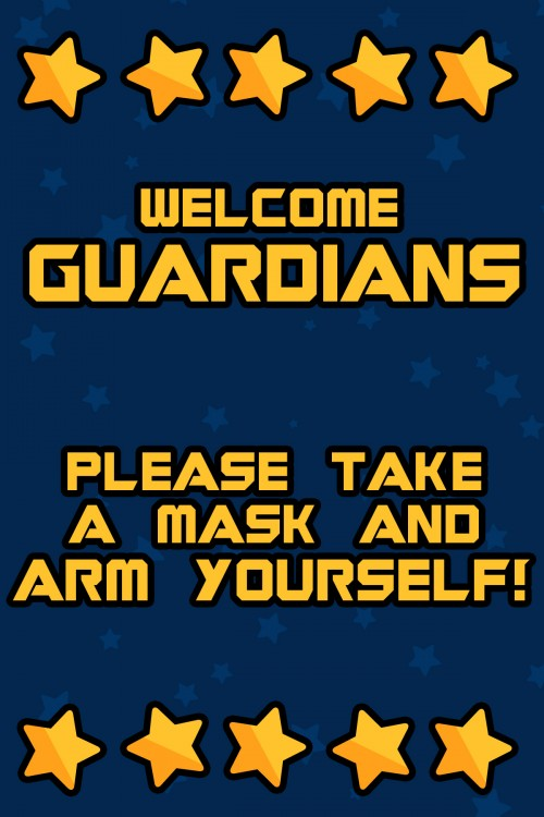 Guardians of the Galaxy Party Sign