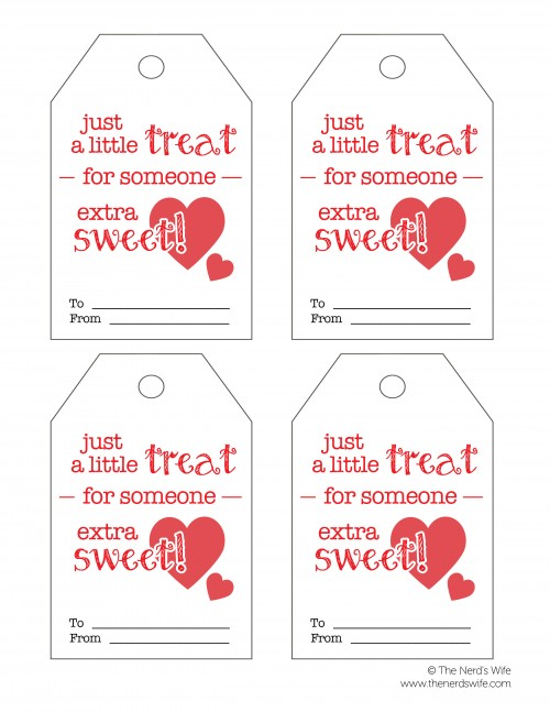 Sweet Treat Tags for Valentines