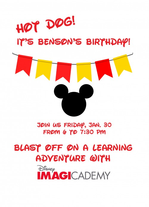 Benson Birthday Invite