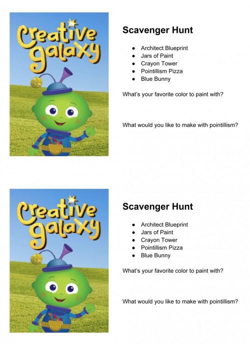 Creative Galaxy Scavenger Hunt