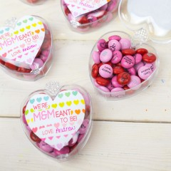 Free Printable M&M Valentines Square