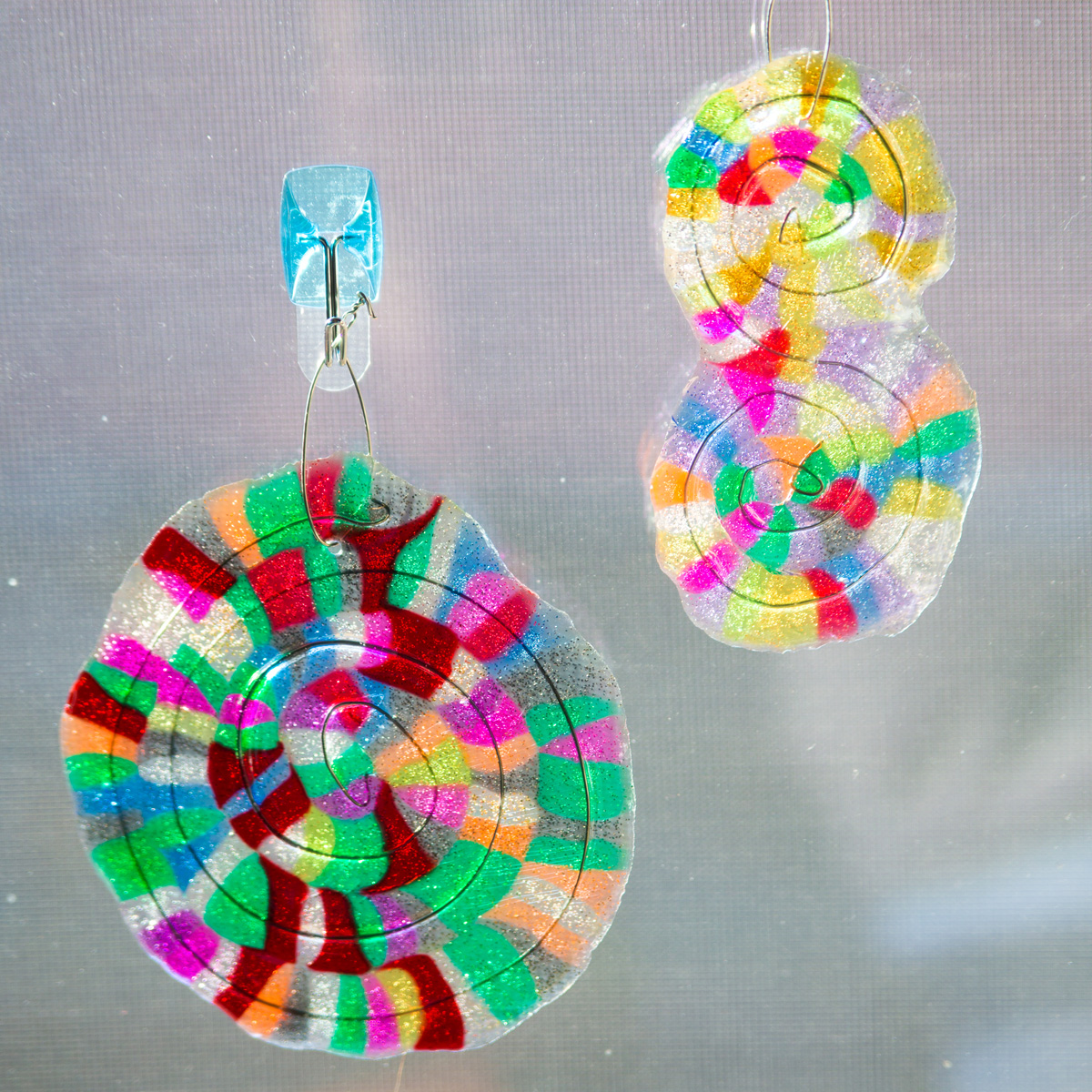 melted bead suncatcher custom shapes