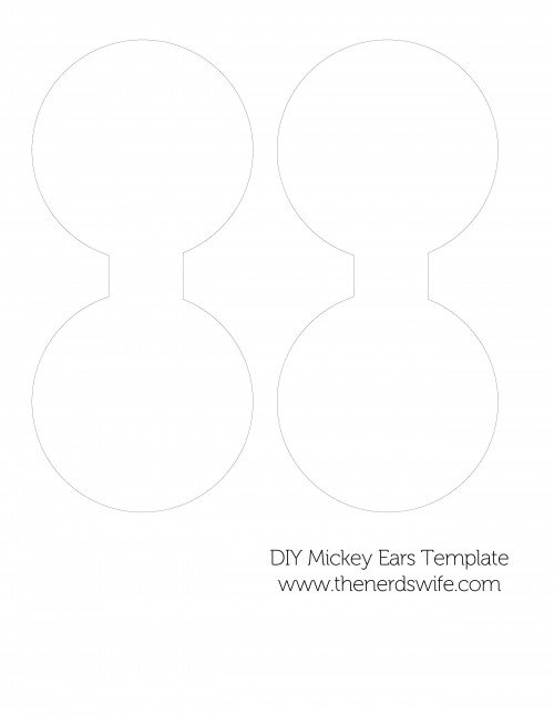 Diy mickey mouse ears for Template for minnie mouse ears