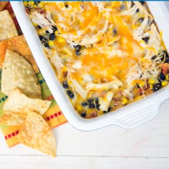 Cheesy Enchilada Bake Square
