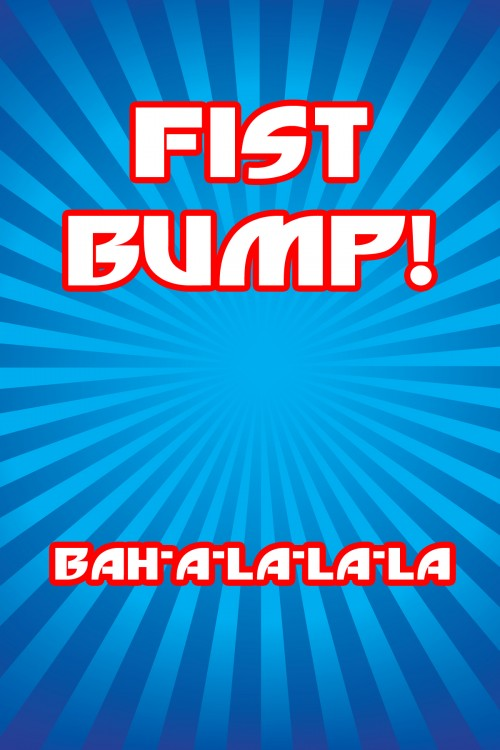 Fist Bump Sign