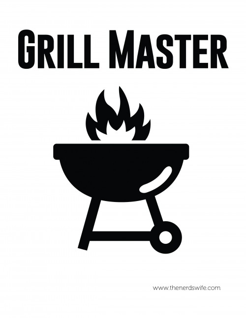 Grill Master Printable